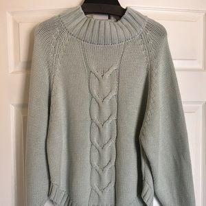 Nanette Lepore Boyfriend Chunky Knit 🧶 Sweater.